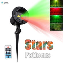 Laser Star Light Projector Showers Christmas Garden Lighting Waterproof Outdoor lamp with IR Remote Red Green Mix Motion Twinkle