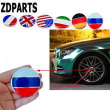 ZDPARTS 56MM Car Styling Flag Wheel Center Hub Cap Cover Sticker Mercedes Benz W203 W204 211 AMG Smart Starline A93 Citroen