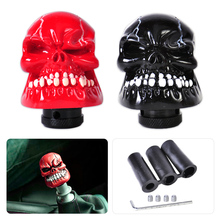 DWCX Car interior Accessories Resin Skull Head Manual Stick Operation Gear Shift Knob Shifter Lever For Car SUV Manual Operation