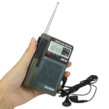 Tecsun R-818 FM Radio Pocket FM/MW/SW Receiver Full Band Digital Clock Alarm + External Antenna Portable Radio FM Y4138G
