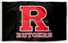 R Black Scarlet Knights Rutgers University Flag 3' x 5' Banner brass metal holes Flag(China)