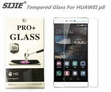 SIJIE Tempered Glass For HUAWEI p8 0.26mm Screen Protector protective stronger 9H hardness thin discount with Retail Package