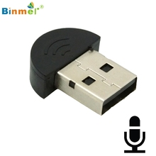 Binmer Super Mini USB 2.0 Microphone Audio Adapter Driver Free for MSN Skype Video PC Notebook AU4 Drop Shipping MotherLander