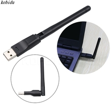 kebidu New 150M USB 2.0 WiFi Wireless Network Card 802.11 b/g/n LAN Antenna Adapter with Antenna for Laptop PC Mini Wi-fi Dongle(China)