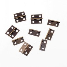 Free Shipping 25pcs Ancient Bronze 4 Holes Box Butt Hinges For Jewelry Box Making DIY 16x13mm F1189(China)