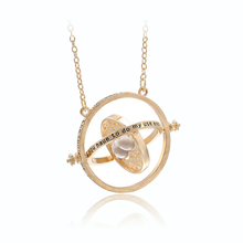 FWORLD New Harry Time Reversal Hourglass Necklace 360 degree rotatable Time Converter Magic Potter Pendant gifts for kids N-049(China)