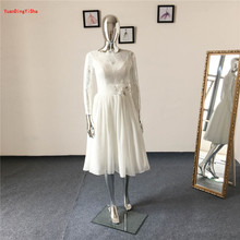 Buy Real Picture Lace A-Line Wedding Dress Sexy Vestidos De Novias 2017 New Arirval beading Bridal dress robe de mariage for $169.00 in AliExpress store