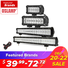 "Oslamp 5D 4"" 7"" 10"" 20"" 23"" LED Light Bar Offroad Led Bar Spot Flood Led Work Light Driving Lamp DC12v 24v Truck SUV 4X4 4WD ATV(China)"