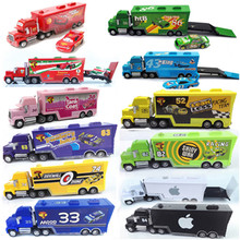 Disney Hot Sales Pixar Cars 2 Newest Lightning McQueen Mack Uncle Truck 1:55 Diecast The King Car Toys Children The Best Gifts(China)