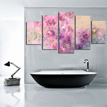 Watercolor Canvas Painting Oil Painting Design Poster Prints Wall Picture for Living Room Wall Art Posters 5 Piece Canvas Art(China)