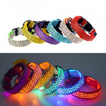 Fashion LED Dog Collar Flashing Light Nylon LED Cat Collar,Night Safety Dog LED Light Strap Pet Collars