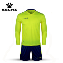 KELME K16Z2004L Men Autumn Long Sleeve Thin Training Light Board Team Football Jersey Suit Yellow Navy Wholesale 28
