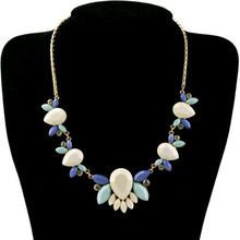 TOMTOSH  New 2016 Maxi Necklace Women Resin Flower Collares Gold Choker Statement Necklaces & Pendants Jewelry