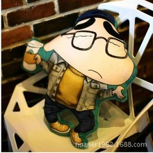 3D stereo printing cartoon crayon Shin pillow plush toy car cushion, sofa send friends gifts