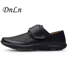 Size 38-47 Men's Genuine Leather Shoes Black Brown Business Dress Moccasins Summer Slip On New Men's Casual Shoes D30