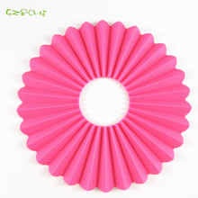1PCS Creative Designing Silicone Placemat Fold Dinner Mat Round Table Coaster Heat insulation Cushion(China)
