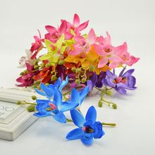 1pcs Artificial Butterfly Orchid Silk Flower for Home Garden Phalaenopsis Bouquet wedding Decor fake simulation flower