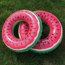 Watermelon Rainbow Windmill Funny Ring Donut Inflatable Floating Raft Swimming Lying Lounge toy Summer Water Bed giant pool