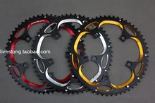 DRIVELINE 7075 aluminum CNC 53/56T road chainring / crankset chainrings / tooth disc / dental plate black with red color(China)