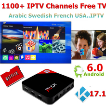 Azamerica Android Arabic IPTV Box with IPTV Code Subscription Free IPTV 1200+Arabic Swedish GERMAN USA Africa Europe ect IP TV(China)