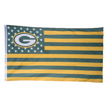 1pcs Green Bay Packers With Stars and Stripes Banner Team USA Green Bay Packers Flag Banner Size 90*150cm/3*5 FT Drop Shipping(China)