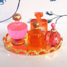 Dollhouse Miniature 1:12 Toy Bathroom French Perfume Tray Set Lenght 3.8cm GM3B