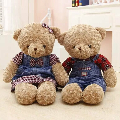 Hot 2pcs/55cm couple bear Lover plush toy stuffed cloth doll girls birthday gift women Kawaii animals kids baby toys ted cartoon<br><br>Aliexpress