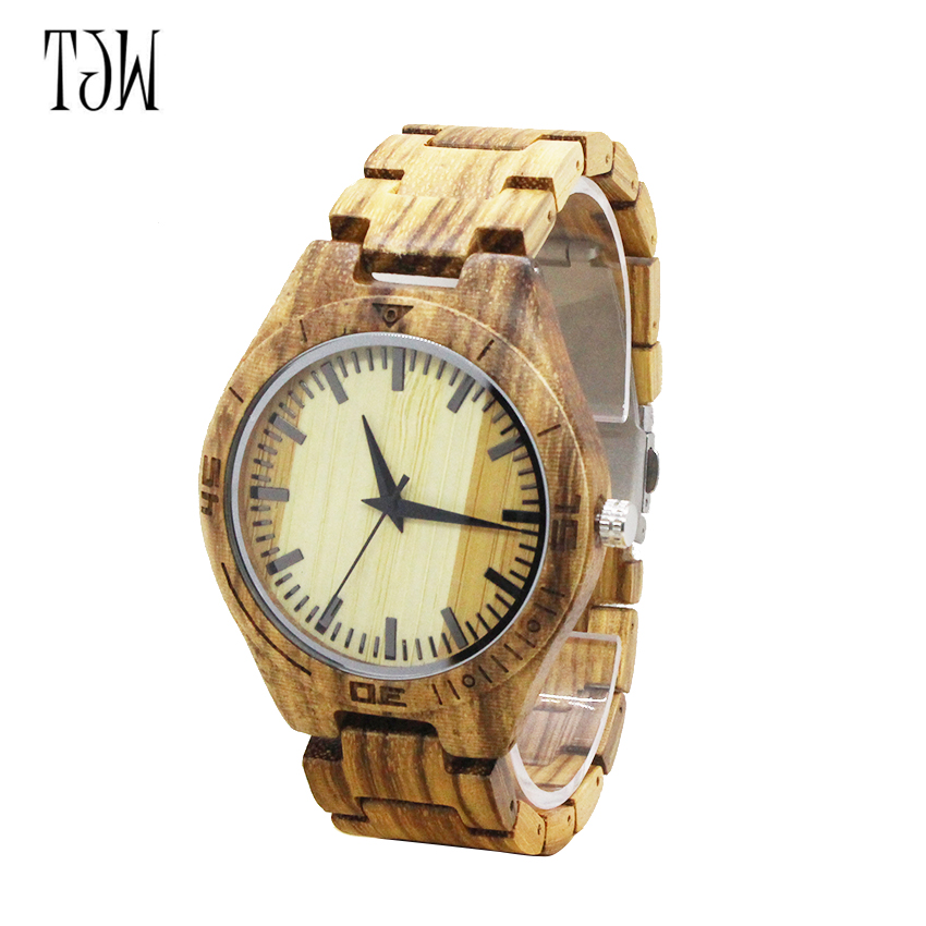 Mens fashion Bamboo Wooden Wrist watch top  Brand Luxury Wood Watches Men Christmas Gifts <br>
