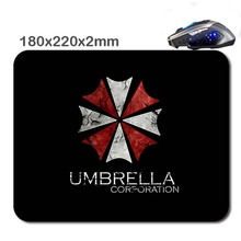 Umbrella Logo Custom New Arrivals Print Wholesale Large Mouse Pad Non-Skid Rubber Gaming Mouse Pad for office gift 220*180*2MM