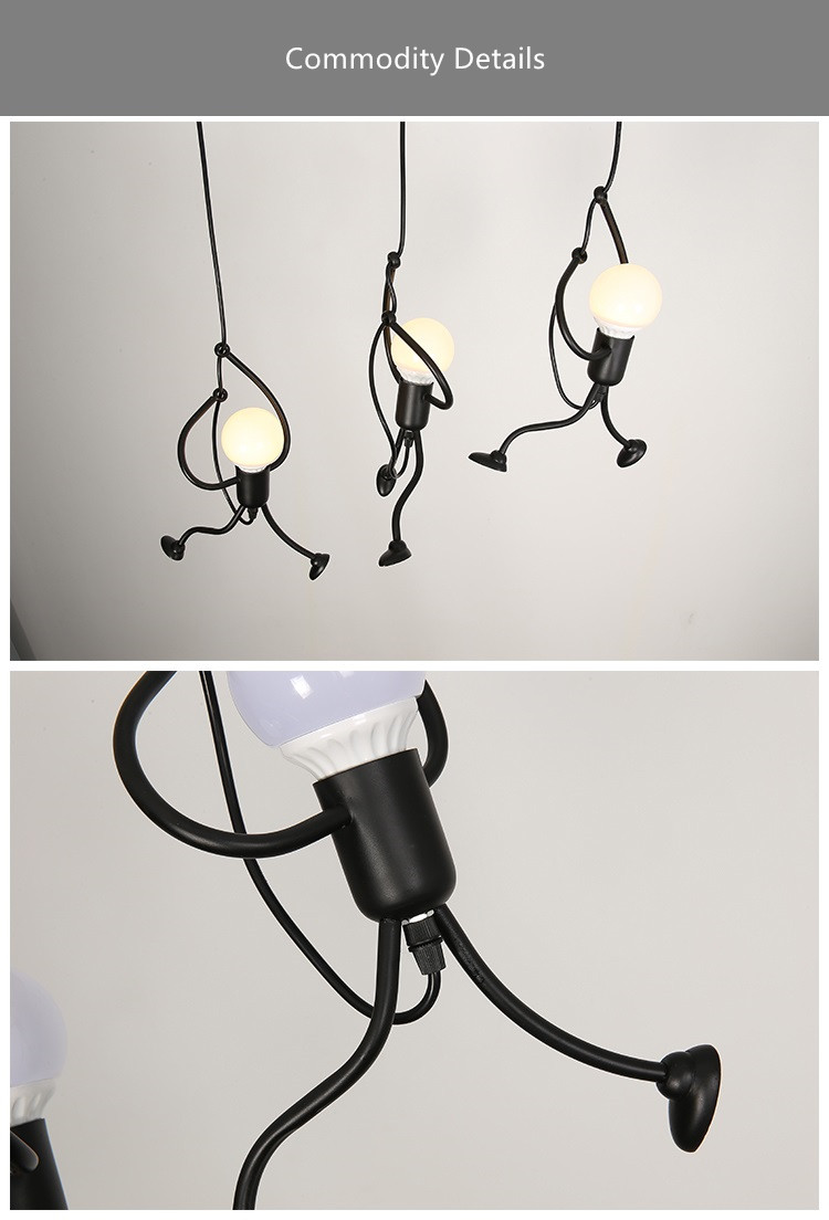 Novelty Pendant Lighting Fixtures Black Iron Dining Room Cafe Restaurant Lamps Modern Hanging Light Suspension Luminaire 11