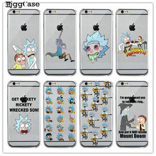Rick and Morty Transparent rubber Case For iPhone 6 6S Plus 5 5S SE 7 7 Plus Soft silicone protective case