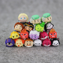 50pcs/lot 1.5cm Tsum Tsum Mini Pvc Doll Toys Screen Cleaner Inside Out Mickey Minnie Animal Bear Juguetes Kids Gift