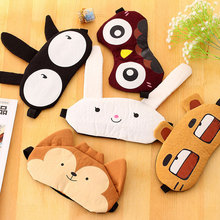 1 STKS Konijn/Tijger/Fox/Uil Luiaard Slaap Masker Rest Travel Relax Slaaphulpmiddel Blinddoek Ijs Cover Eye Patch Slaapmasker Case