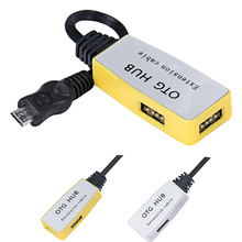 Factory Price Mini OTG 2 In 1 USB 2.0 3 Port Power LED Hub for PC Laptop Notebook Mmar2 Drop Shipping