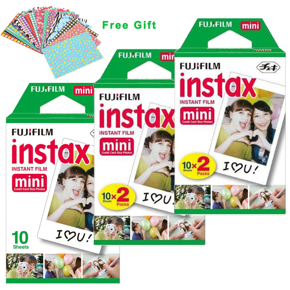 100% Original Fuji Fujifilm Instax Mini 8 Film White 50 Pcs For 8 7 7s 50s 90 25 dw 50i Share SP-1 Polaroid Instant Photo Camera<br><br>Aliexpress