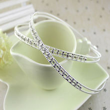 1 pc New Women Girl Lady Fashion Metal Crystal Headband Head Piece HairBand fine Jewelry hair accessories
