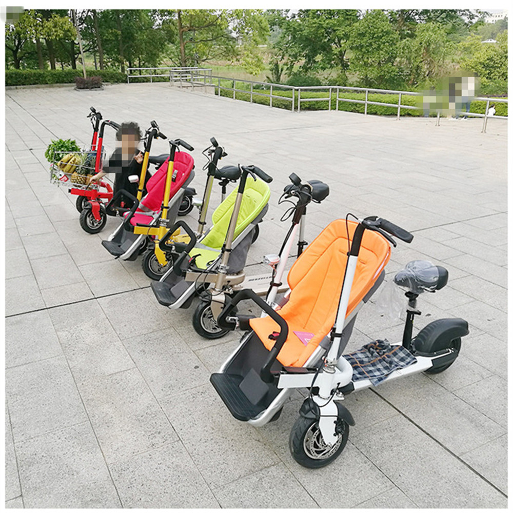 12 Inch Aluminum Alloy Removable Load 160kg Mini 36V 12Ah Electric Family Bicycle Pram Mother and Child Car Stroller10
