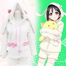 Love Live School Idol Project Nico Yazawa Love Live Cosplay Nico Cosplay Easter Bunny Costume Fleece Bunny Ears Hoodie One Size