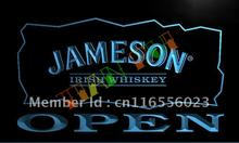 LA083- Jameson Irish Whiskey OPEN Bar LED Neon Light Sign