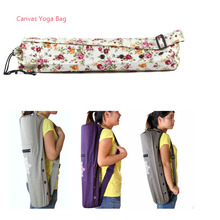 68*15cm Canvas Practical Yoga Bag Yoga Pilates Mat for women Case Carry Strap Drawstring Bag Sport Exercise Gym Fitness Backpack(China)