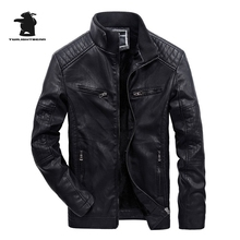 Buy New Men's Leather Jacket Winter Fashion High PU Casual Biker Jacket Men Bomber Jacket Plus Size 3XL B8FYL608 for $37.99 in AliExpress store