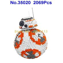 35020 2069pcs Star Wars Ucs Poe Dameron Astromech Droid Bb-8 Robot Lele Building Block Brick Toy