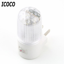 ICOCO New 1pcs Wholesale 1W 4 LED AC Plug Wall Mounting Bedroom Night Light Lamp Energy Saving Stock Offer(China)