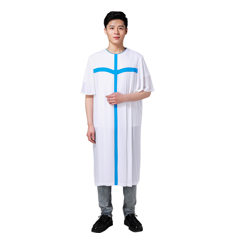 Europe Standard Quality Christian church Unisex choir dress Ecclesiastical robe Chasuble Priest vestments Summer Singing Gown(China (Mainland))