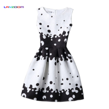 girls summer dress teenage clothing 12 13 14 15 years old age big size 2016 cheap polka dot print princess