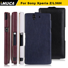Sony Xperia Z case flip leather cover sony xperia z L36h L36i C6602 C6603 imuca phone accessories&bag - iMUCA Communication Co.,ltd store