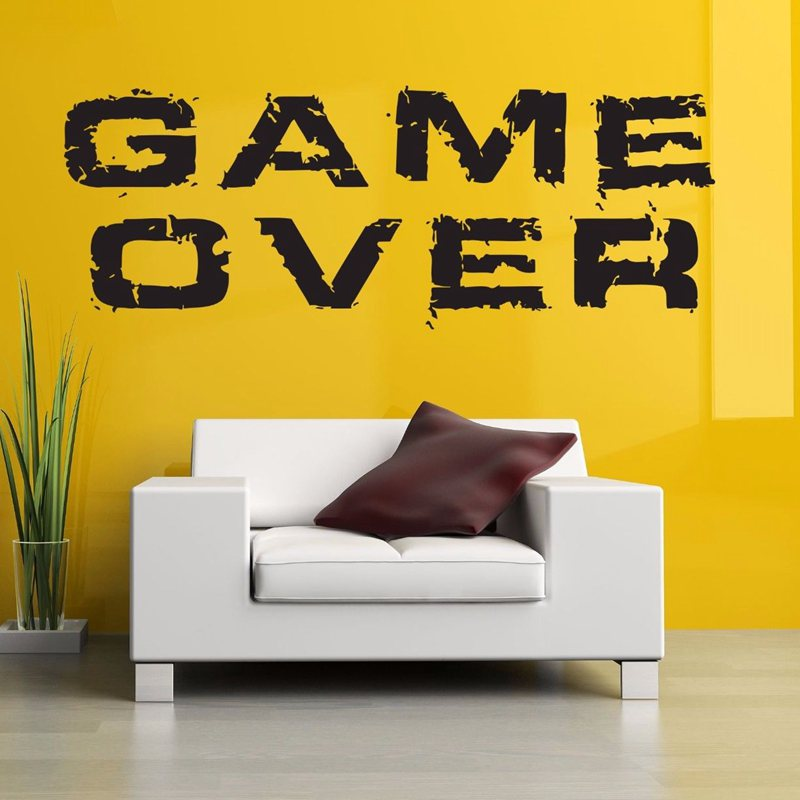 DCTAL Video Game Sticker Play Decal Gaming Posters Gamer Vinyl Wall Decals Parede Decor Mural 19 Color Choose Video Game Sticker