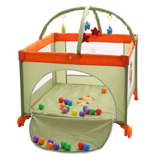 Folding multifunctional baby bed portable game bed large child bed twin bed