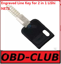 10pcs Original Engraved Line Key for 2 in 1 LiShi NE72 forPeugeot 206/207/C2/07  teeth blank car key locksmith tools supplies