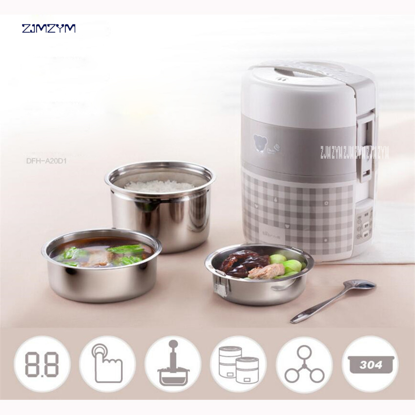 DFH-A20D1 1L Mini Rice Cooker Electric Rice Cooker Auto Rice Cooker With Cute Pattern For Rice Soup Porridge Steamed Egg 270W<br>